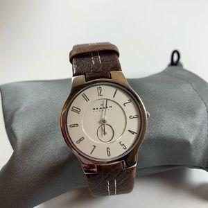 Skagen Leather Watch